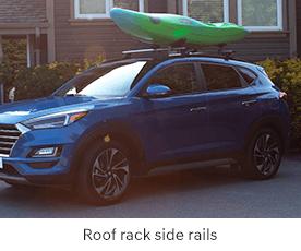 Roof rack side rails
